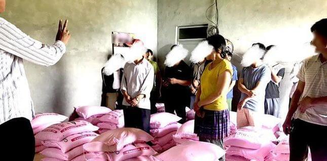 Distribution d'aide au Vietnam