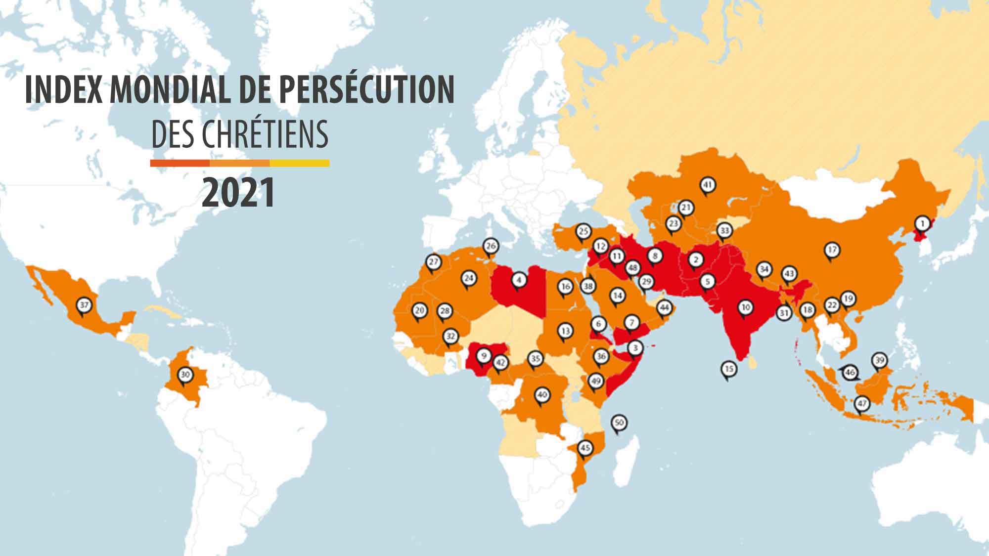 Po mappemonde index mondial de persecution des chretiens 2021